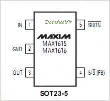 MAX1616 pinout,Pin out