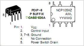 NCP1051 pinout,Pin out