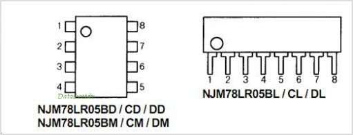 NJM78LR05 pinout,Pin out