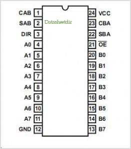 HCTS646MS pinout,Pin out