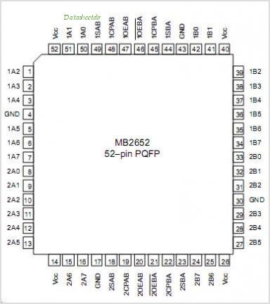 MB2652 pinout,Pin out