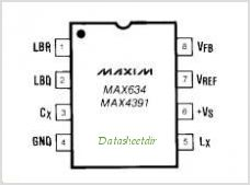 MAX4391 pinout,Pin out