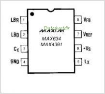 MAX634 pinout,Pin out