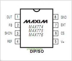 MAX776 pinout,Pin out