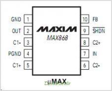 MAX868EUB pinout,Pin out