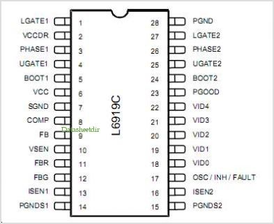 L6919C pinout,Pin out