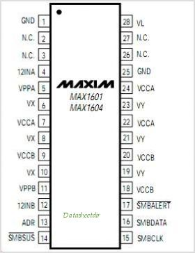 MAX1604 pinout,Pin out