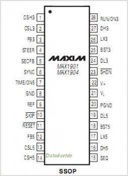 MAX1901 pinout,Pin out