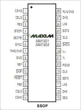 MAX1904ETJ pinout,Pin out