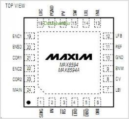 MAX8594 pinout,Pin out
