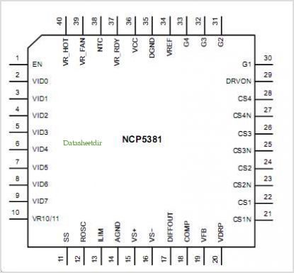 NCP5381 pinout,Pin out