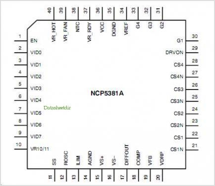 NCP5381A pinout,Pin out