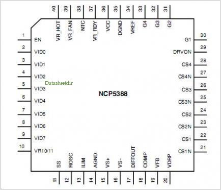 NCP5388 pinout,Pin out