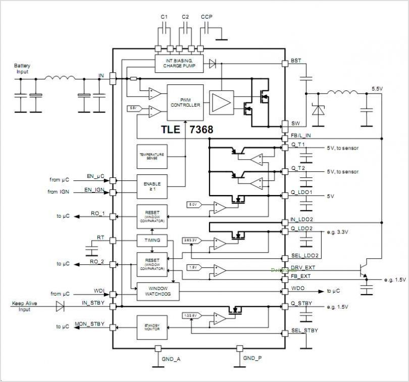 TLE7368G circuits