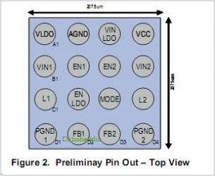 TPS657052YZHR pinout,Pin out