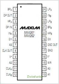 MAX262 pinout,Pin out