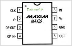 MAX292 pinout,Pin out