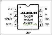 MAX294 pinout,Pin out