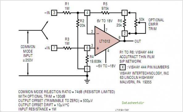 LT1012IN8 circuits