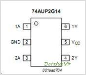74AUP2G14GM pinout,Pin out