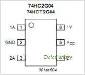 74HC2G04 pinout,Pin out