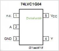 74LVC1G04 pinout,Pin out