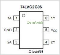 74LVC2G06 pinout,Pin out
