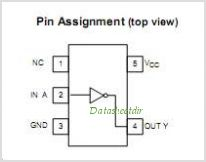 TC7SH04FE pinout,Pin out