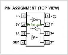 TC7W14F pinout,Pin out