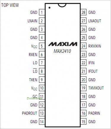 MAX2410 pinout,Pin out