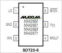 MAX2661 pinout,Pin out