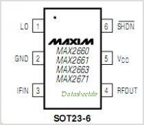 MAX2671 pinout,Pin out