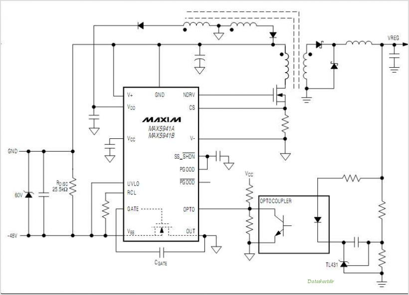 MAX5941AESE-T circuits