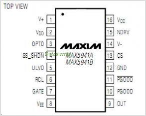 MAX5941AESET pinout,Pin out