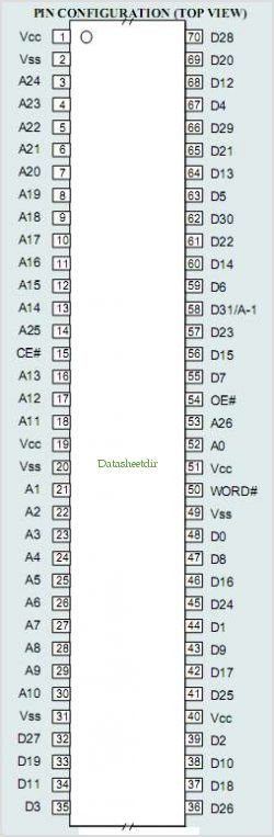 MR36V03G54B pinout,Pin out