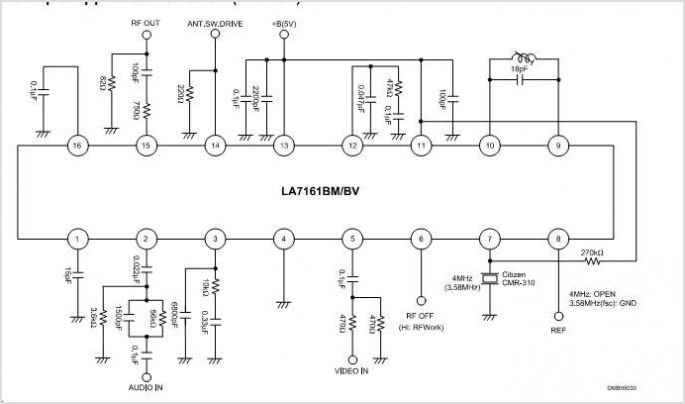 LA7161BM Application circuits