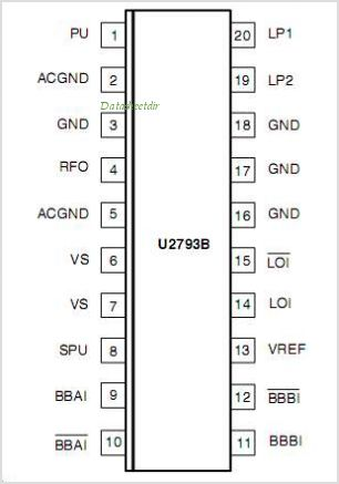 U2793B pinout,Pin out