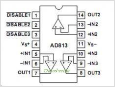 AD813AN pinout,Pin out