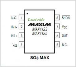 MAX4125 pinout,Pin out