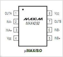 MAX4292 pinout,Pin out