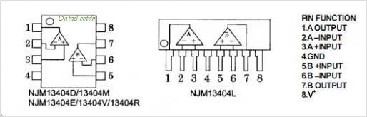 NJM13404 pinout,Pin out
