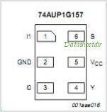 74AUP1G157 pinout,Pin out
