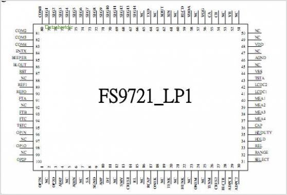 FS9721-LP1 pinout,Pin out