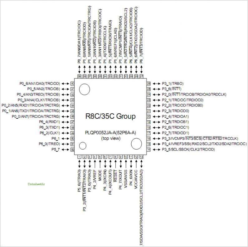 R5F21354CNFP pinout,Pin out