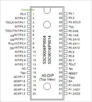 S3C9014 pinout,Pin out