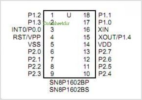 SN8P1602B pinout,Pin out