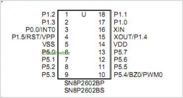 SN8P2602B pinout,Pin out
