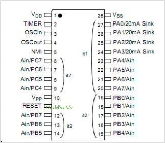 ST6215C pinout,Pin out
