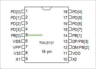 TMU3101 pinout,Pin out