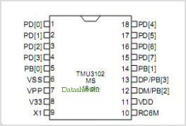 TMU3102MS pinout,Pin out
